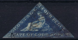 Cape Of Good Hope: 1853 1 D  SG 2  Used Paper Blued - Südafrika (...-1961)