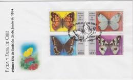 CHILI OBLITERATION    PAPILLONS - Schmetterlinge