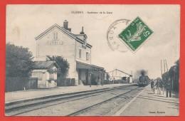 CPA Flogny - Intérieur De La Gare - Flogny La Chapelle