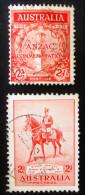 +  + CENOTAPHE DE WHITEHALL & GEORGE V SUR SON CHEVAL ANZAC 1935 - OBLITERES - YT 100 + 102 - MI 127 + 129 - 1913-36 George V: Heads