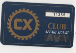 Tel106 Carta Club Affari Sicuri Card Tessera Personale CX - Other Collections
