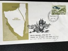 Philex 387 Opening Day Of Israeli Post Office  Dir El Balah 20.7.1967   FDC - Israel