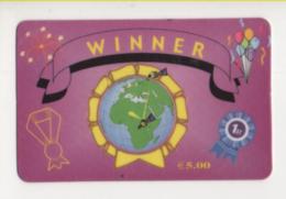 Tel104 Prepaid Worldwide Phone Card Carta Telefonica Internazionale Winner - Schede GSM, Prepagate & Ricariche