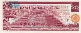 MEXICO  P. 64d 20 P 1977 UNC - Messico