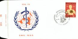 C.O.B. 1667  25 Ans De L'Organisation Mondiale De La Santé. O.M.S. - FDC