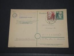 ALLEMAGNE - Entier Voyagé Avec Complément D´affranchissement – Nov 1949 - A Voir – P17521 - Postales - Usados