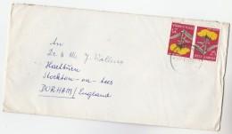 1968 YUGOSLAVIA  Multi FLOWER Stamps COVER To GB - 1945-1992 Socialist Federal Republic Of Yugoslavia