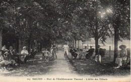 17 SAUJON  Parc De L'Etablissement Thermal  L'Allée Des Tilleuls - Saujon
