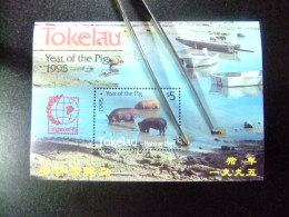TOKELAU 1995 FAUNA NOUVEL AN CHINOIS Cohons Pêchant Yvert Nº Bloc 4** MNH - Tokelau