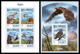 MOZAMBIQUE 2013 - Eagles - YT 5793-6 + BF774; CV = 33 € - Arends & Roofvogels
