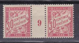 N° 33 Timbres-Taxes Millésimes 9: 1 Paire Timbres Neuf Impéccable Sans Charnière - 1859-1955 Nuovi