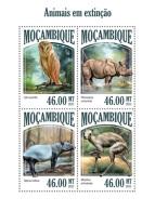MOZAMBIQUE 2013 - Owl, Endangered Species - YT 5797-5800; CV = 17 € - Uilen