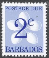 Barbados. 1976 Postage Due. 2c MH. SG D15a - Barbados (1966-...)