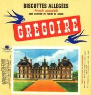 Buvard  -   Biscottes Grégoire  -   N° 4   Château De Cheverny - Non Classés