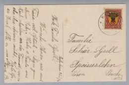 Schweiz Pro Juventute 1918  Zu#PJ10 Auf AK Märstetten - Pro Juventute