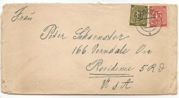 DEUTSCHLAND  - GERMANY - 1947 COVER From KREFELD - British Zone To PROVIDENCE - Rhode Island - Bizone