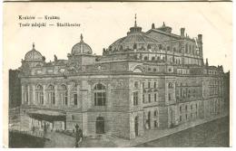 Kraków Teatr Miejski Stadttheater Feldpost 1915 KuK Militärzensur OSWIECIM (violet) WWI Military Censor Field Post - Polen