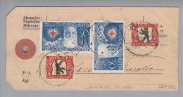Schweiz Pro Juventute 1928-12-14 Muralto Paketanhänger 6,5kg PJ Frankiert - Lettres & Documents