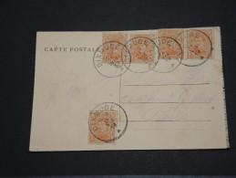 BELGIQUE - Carte Pour Paris - Août 1919 - A Voir – 17539 - 1915-1920 Albert I