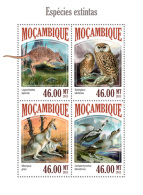 MOZAMBIQUE 2013 - Owl, Extinct Species - YT 5801-4; CV = 17 € - Uilen
