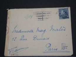 BELGIQUE - Env Avec Censure Allemande Pour Paris - 1943 - A Voir – 17541 - 1934-1935 Léopold III