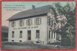 68 - SOUVENIR De BANZENHEIM - BANTZENHEIM - Hotel Restaurant De La Gare - Ernest KLINGENMEIER - France