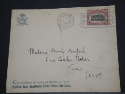 BELGIQUE - Env Vendue Au Bénéfice Des Soldats Invalides Belges - Nov 1921 - A Voir – 17545 - Postmark Collection