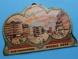 """ OLD GOTHAM "" Old Fashioned NEEDLE Book - Made In Germany ( Met Restanten ) Anno 19?? ( Zie Foto Voor Details ) ! - Habits & Linge D'époque"