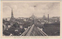 26616g  AERODROME DE KIEWIT - CHEVALIER JULES DE LAMINNE - APPAREIL HENRI FARMAN - VOL AU-DESSUS  VILLE De HASSELT 1910 - Hasselt