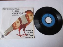 JEANETTE   ---   Chanson Du Film :  CRIA  CUERVOS...  ---  PORQUE TE VAS  ///   SEGUIRE AMANDO   --  2 Photos - Musique De Films