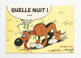 Cp , Bandes Dessinées , LUCKY LUKE , 1995 , N° 22 , Ed : Geyer , Quelle Nuit ! , Morris - Bandes Dessinées