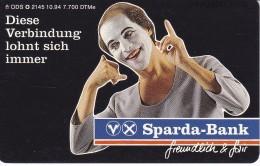 O 2145 TARJETA DE ALEMANIA DE SPARDA BANK (MIMO-PAYASO-CLOWN) - Alemania