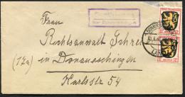 (1625) Brief FZ Landpoststempel Aus SUNDHAUSEN über DONAUESCHINGEN Vom 31.5.1946, MeF 2x 12 Pf Allg. Ausg. - Zone Française