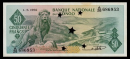 Congo 50 Francs 1962 P.5a With Stars XF+ - Congo