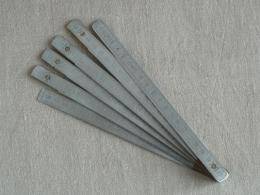 Double Mètre Pliant MABO Aluminium Et Laiton. Voir Photos - Outils