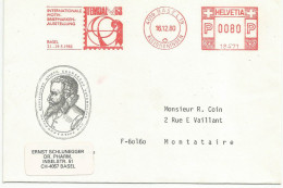 SUISSE EMA EXPO TEMBAL DU 16/12/1980 - Poststempel