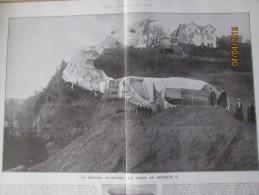1910   Un Deboire Allemand LE ZEPPELIN  II Hombourg KUR HOTEL WEBERS BERG  LZ 130 Graf Zeppelin II Last Of The Great G - Vieux Papiers