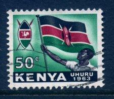 Kenya 1963 Independence - 50c Flag Used - Kenya (1963-...)