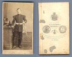 Leblondel Lille, Militaire à Identifier Vintage CDV Albumen Carte De Visite   CDV, Tirage Albuminé, 6 X 1 - War, Military