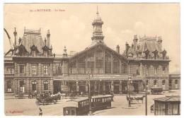 ROUBAIX  ---  La Gare     (   Attelages +Tram -- 2 Scans ) - Roubaix