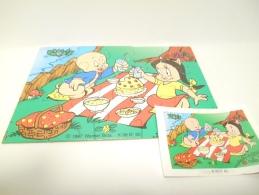Kinder K 98 N. 80 + Bpz - Puzzles