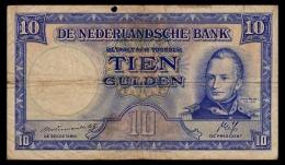 Netherlands 10 Gulden 1945 F- - [2] 1815-… : Kingdom Of The Netherlands