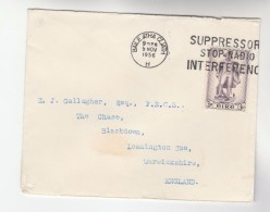 1956 IRELAND Cover SUPPRESS Or STOP RADIO INTERFERENCE Slogan Pmk Broadcasting Stamps - 1949-... Republic Of Ireland