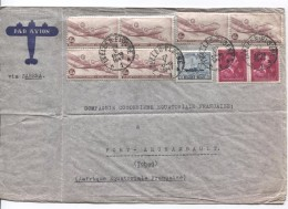 TPA 9 (6)-690(2)-727 S/L.Avion Via Sabena C.Bruxelles 29/5/1947 C.Fort Archambault Tchad AEF PR3111 - Postmark Collection