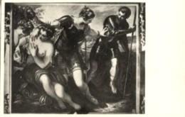 Venezia - Cartolina Antica VENERE, MARTE E MINERVA Di IACOPO TINTORETTO, P. Ducale Anno 1951 (Timbro Motta) - M42 - Pittura & Quadri