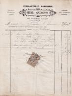 ALAIS - 1887 - FACTURE - 1800 – 1899