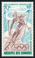 COMORES 1968 - Yv. PA 22 ** TB  Cote= 7,50 EUR - Jeux Olympiques De Grenoble ..Réf.AFA22293 - Komoren (1950-1975)