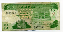 10 RUPEES - Maurice