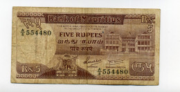 5 RUPEES - Maurice