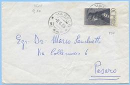 1963 PICO DELLA MIRANDOLA L.30 (SASSONE 956) ISOLATO 8.6.63 BUSTA TARIFFA LETTERA TIMBRO ARRIVO E OTTIMA QUALITÀ (4800) - 6. 1946-.. Repubblica